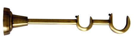Wspornik Podwójny Ø25+Ø16 Złoty Antyk.