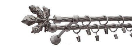 Karnisz KLON Satyna,  podwójny Ø16+Ø16 z rurą skrętną.