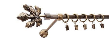 Karnisz KLON Złoty Antyk,  pojedynczy Ø16 z rurą ryflowaną.
