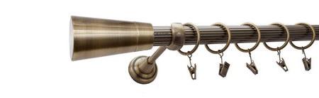 Karnisz IMPERIA Złoty Antyk,  pojedynczy Ø25 z rurą ryflowaną.