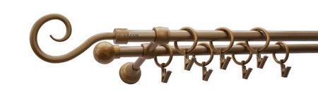 Karnisz HAK Złoty Antyk,  podwójny Ø16+Ø16.