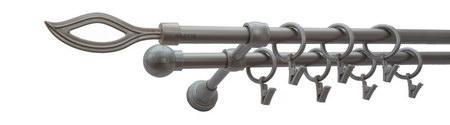 Karnisz PŁOMIEŃ Satyna,  podwójny Ø16+Ø16.