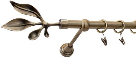 Karnisz BAWARO Złoty Antyk,  pojedynczy Ø19 z rurą gładką.